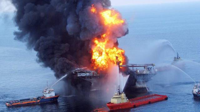 Die Explosion der Plattform löste eine riesige Ölpest aus (Archiv)