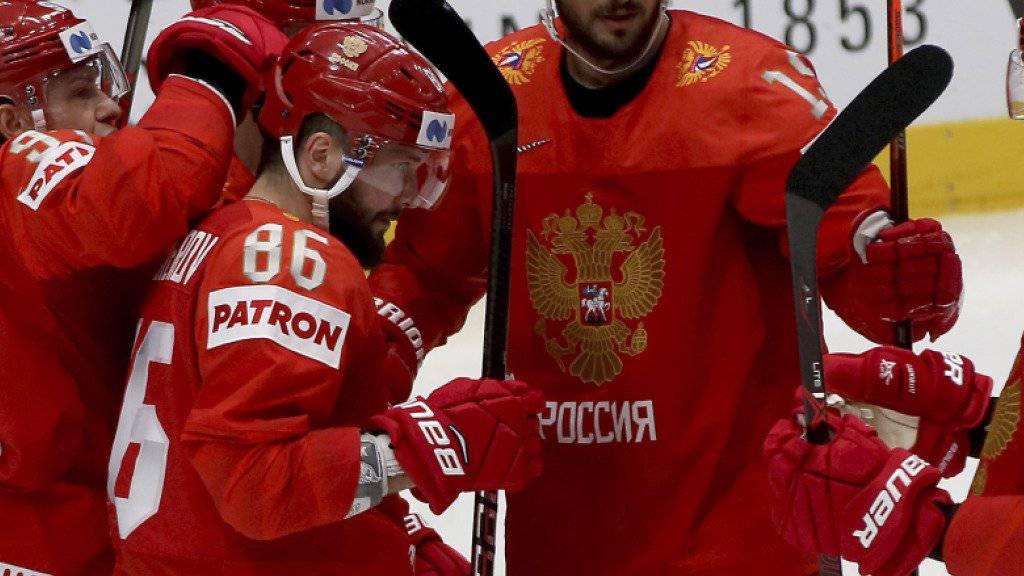 Die Russen konnten gegen Aufsteiger Italien gleich zehnmal jubeln