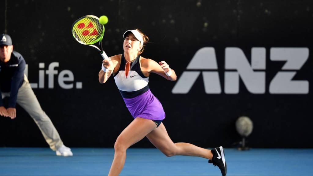 Belinda Bencic ist in Dubai in der Startrunde gut unterwegs