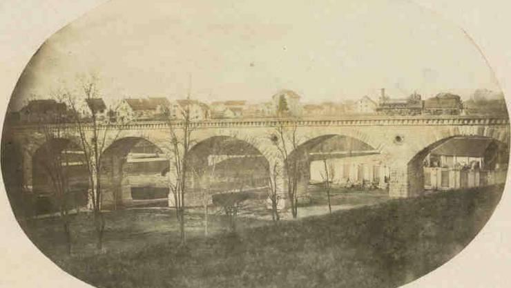 Als die Eisenbahn noch über das Viadukt führte.