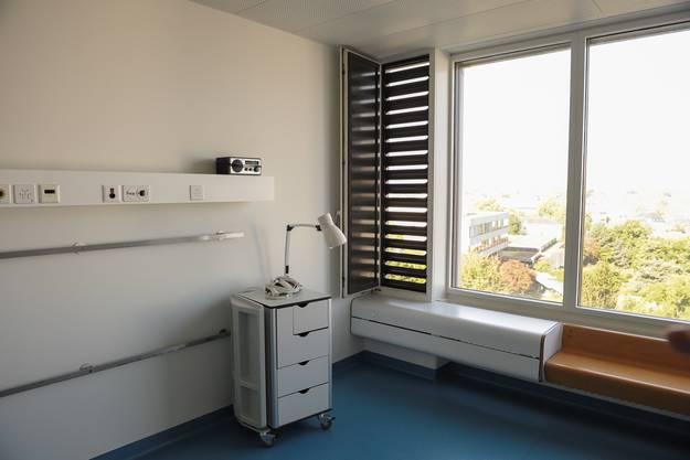 Das Isolationszimmer mit Schleuseneingang.