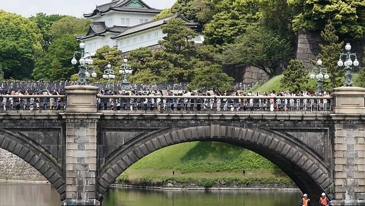 Einige Gärten des japanischen Kaiserpalastes in Tokio dürfen wieder von der Öffentlichkeit besucht werden, nachdem sie aufgrund der Coronavirus-Ausbreitung geschlossen worden waren. (Archivbild)