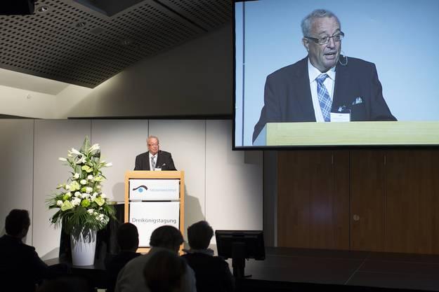 Hauspeter Lebrument, Präsident des Verbandes Schweizer Medien.