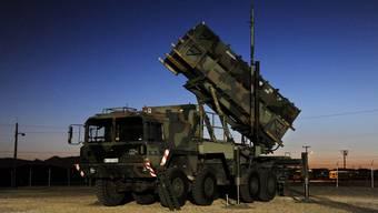 Abschusstation für eine Patriot-Rakete in DeutschlandEine Patriot-Abwehrrakete im Nato-Mitgliedstaat Deutschland. (Symbolbild)