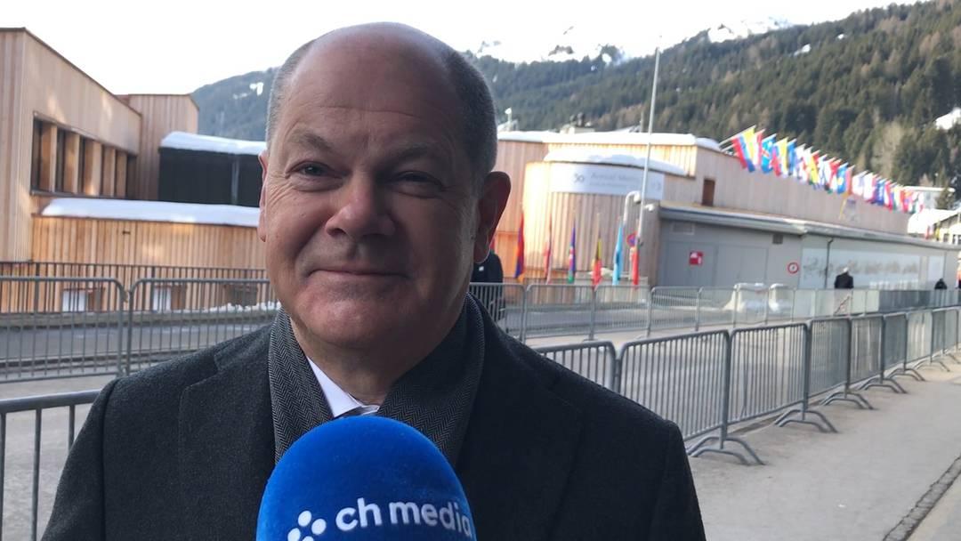 Im Interview am WEF 2020: der Deutsche Finanzminister und Vizekanzler Olaf Scholz
