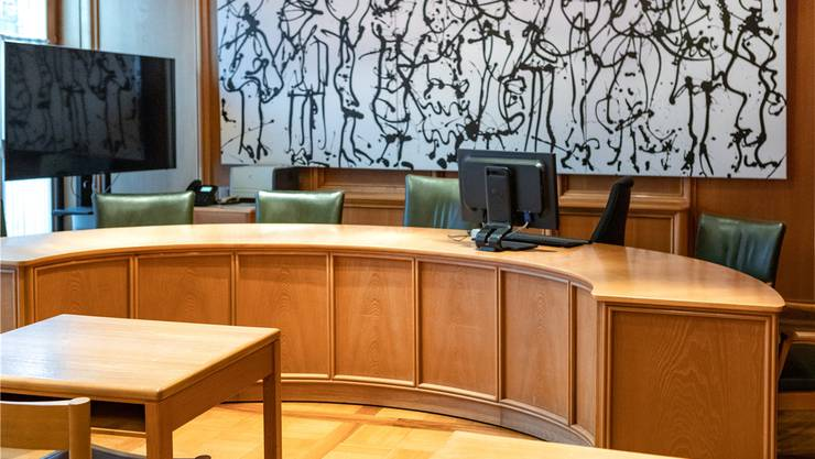 Der Saal des Bezirksgerichts Lenzburg. Bild: Chris Iseli