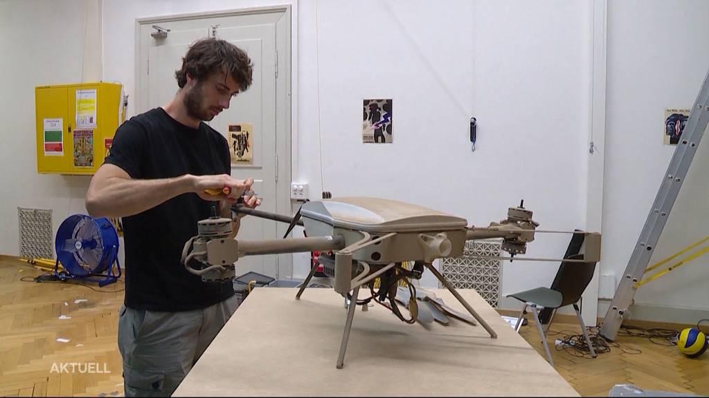 ETH-Maler-Drohne im Einsatz
