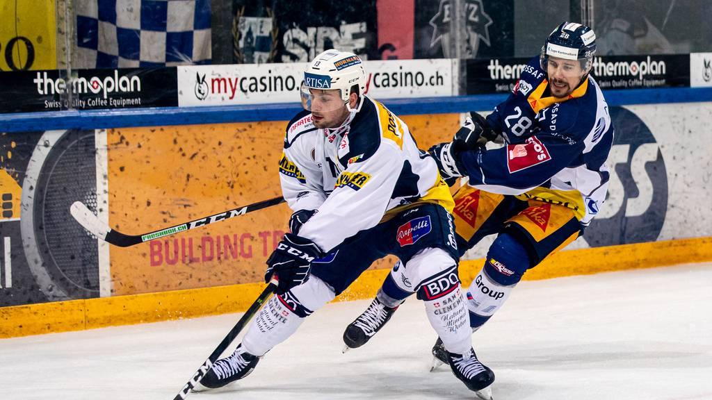 Da spielte er noch gegen den EV Zug. Per sofort spielt Marco Müller aber im blauen Dress für den EVZ.