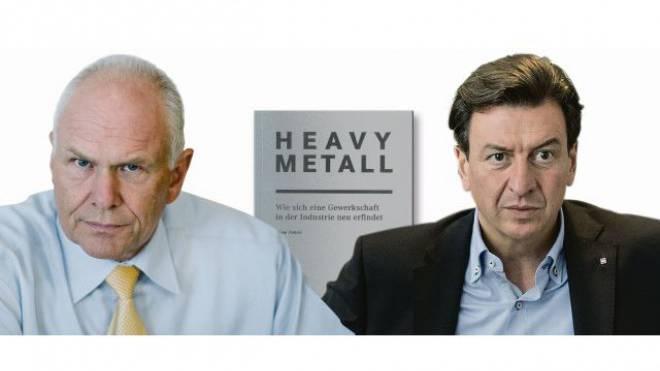 Swissmem-Präsident Hans Hess (links) und Unia-Industrieboss Corrado Pardini liegen sich in den Haaren, seit das Unia-Buch «Heavy Metall» erschienen ist. Foto: Keystone