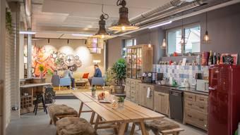 Die für Coworkings fast schon obligate Küche für Gratis-Kaffee und Zwischenverpflegung.