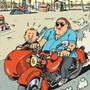 """Ausschnitt aus dem Cover von Matthieu Sapins Comic """"Gérard. Fünf Jahre am Rockzipfel von Depardieu"""", dessen deutschsprachige Übersetzung auf der Leipziger Buchmesse vorgestellt wurde. (zVg)"""