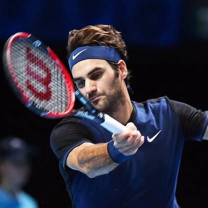 Roger Federer setzte sich in zwei Sätzen mit 7:5 und 6:3 durch