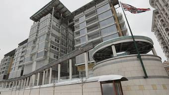 Die britische Botschaft in Moskau steht im Zentrum der diplomatischen Sanktionen Russlands gegen Grossbritannien. (Archiv)