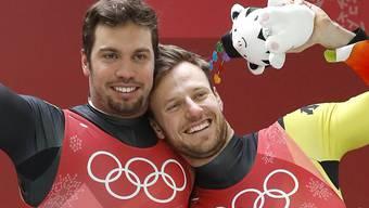 Siegten mit 88 Tausendsteln Vorsprung: Tobias Wendl (links) und Tobias Arlt