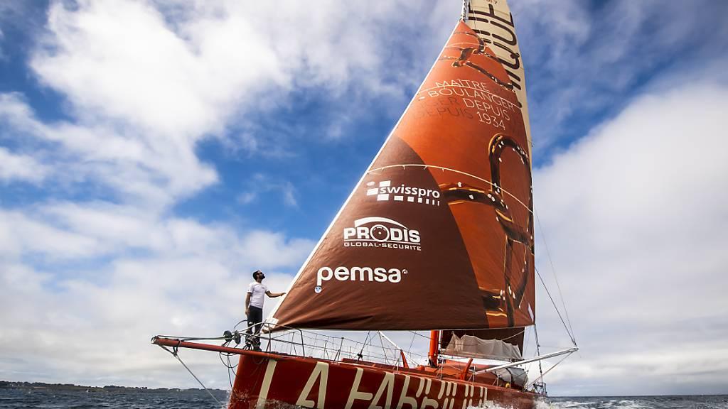 Technische Probleme beim Segelboot von Alan Roura
