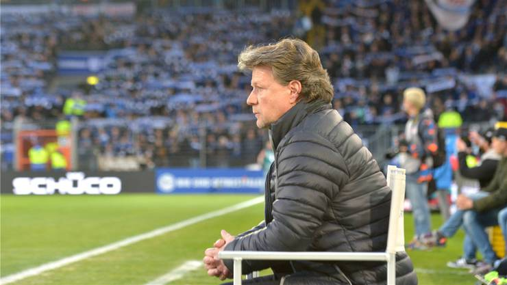 Er ist weder laut noch schrill: Jeff Saibene als Trainer von Arminia Bielefeld.