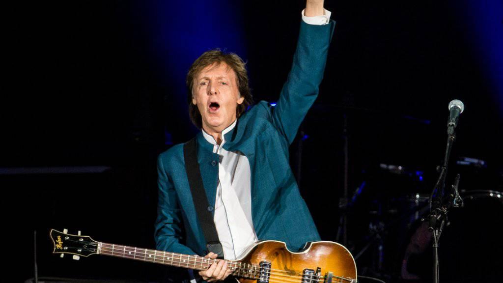 Neues Album in Arbeit: Nachdem Ex-Beatle Paul McCartney jahrelang mehrheitlich auf der Bühne stand, hat er sich für Aufnahmen ins Studio verkrochen. (Archivild)