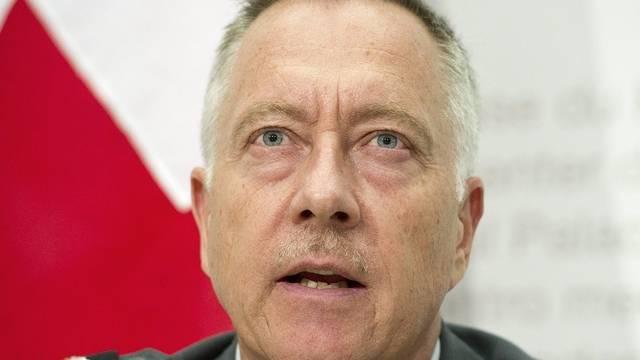 Der Schweizer Armeechef, André Blattmann, begrüsst Abstimmung über Kampfjets