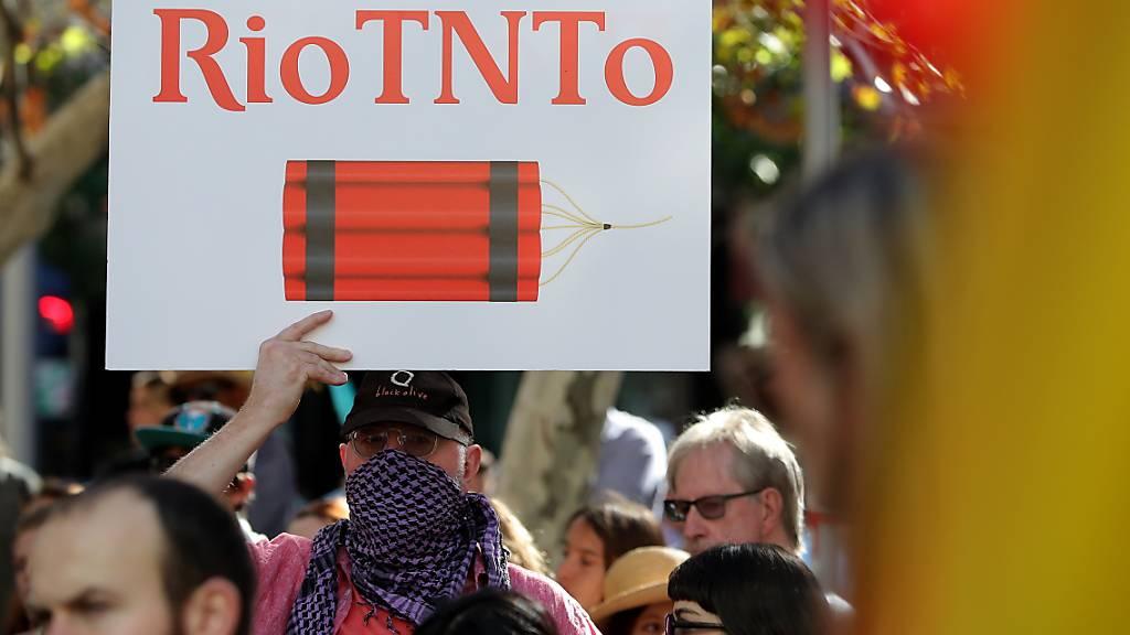 Die Sprengung von heiligen Stätten der Aborigenes durch Rio Tinto hatte in Australien zu Protesten geführt. (Archivbild)