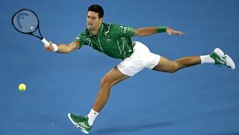 Novak Djokovic steht in der 2. Runde.