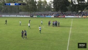 Bochums Jordi Osei-Tutu verlässt unter Tränen den Platz. (Screenshot: VfL Bochum)