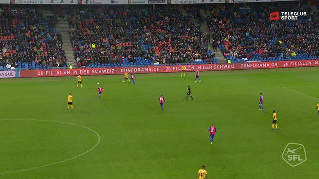 Super League, Saison 2018/19, Runde 16,  FC Basel - YB, 1:3 Christian Fassnacht (Assist: Garcia)