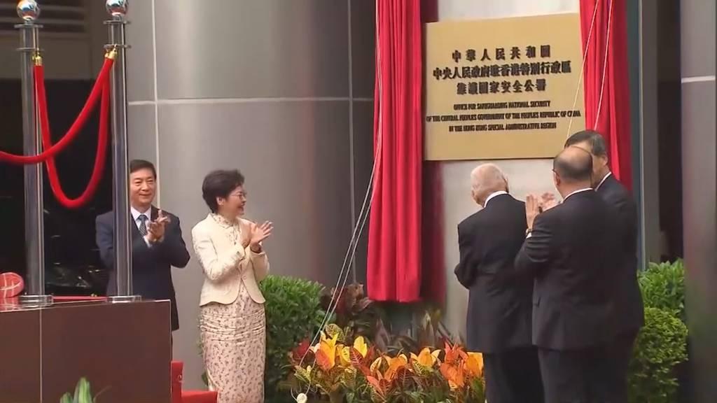 Chinas Sicherheitsbüro nimmt Arbeit in Hongkong auf