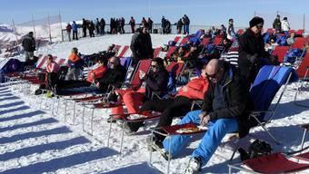 Solche Szenen will Angela Merkel diese Saison nicht sehen: Die deutsche Kanzlerin fordert, dass die europäischen Skigebiete den Betrieb ruhen lassen.