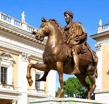 Reiterstatue Mark Aurels in Rom.