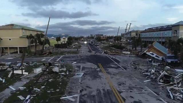 """AP: Drohnenvideo zeigt die Verwüstung von Hurrikan """"Michael"""""""