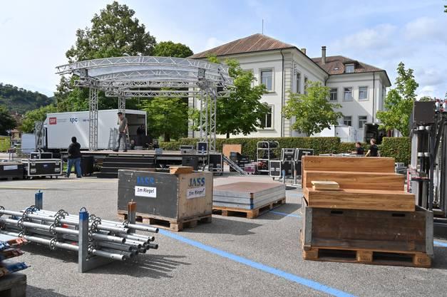Noch viel zu tun auf dem Rolf Kaiser-Parkplatz