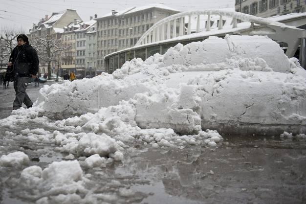 Schneefall in St. Gallen