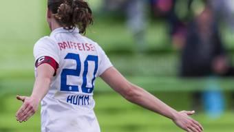 Nur einmal Grund zum Jubeln in Litauen: die Frauen des FC Zürich mit Captain Fabienne Humm