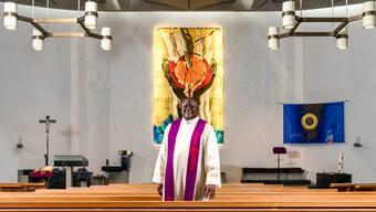 Willy Mayunda ist seit 2016 Seelsorger der Pfarrei St. Mauritius Engstringen. Davor amtete er als Pfarrer in Winterthur Wülflingen.