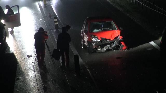 A6 gesperrt wegen Auffahrunfall