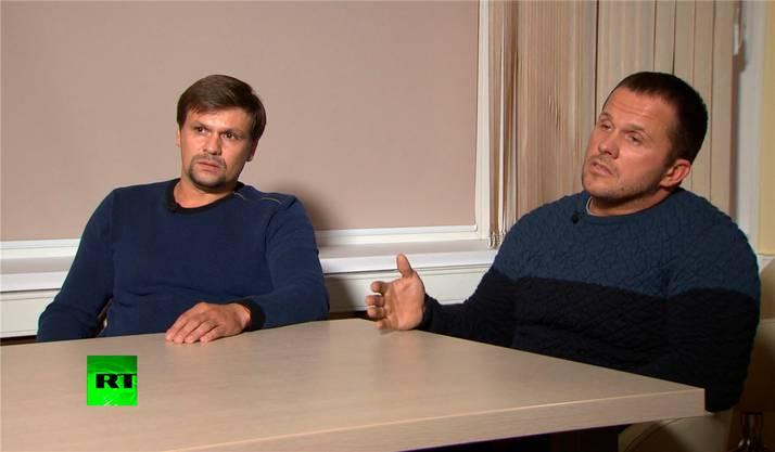 Im russischen Fernsehen behaupteten sie, sie hätten in Salisbury nur Urlaub gemacht.