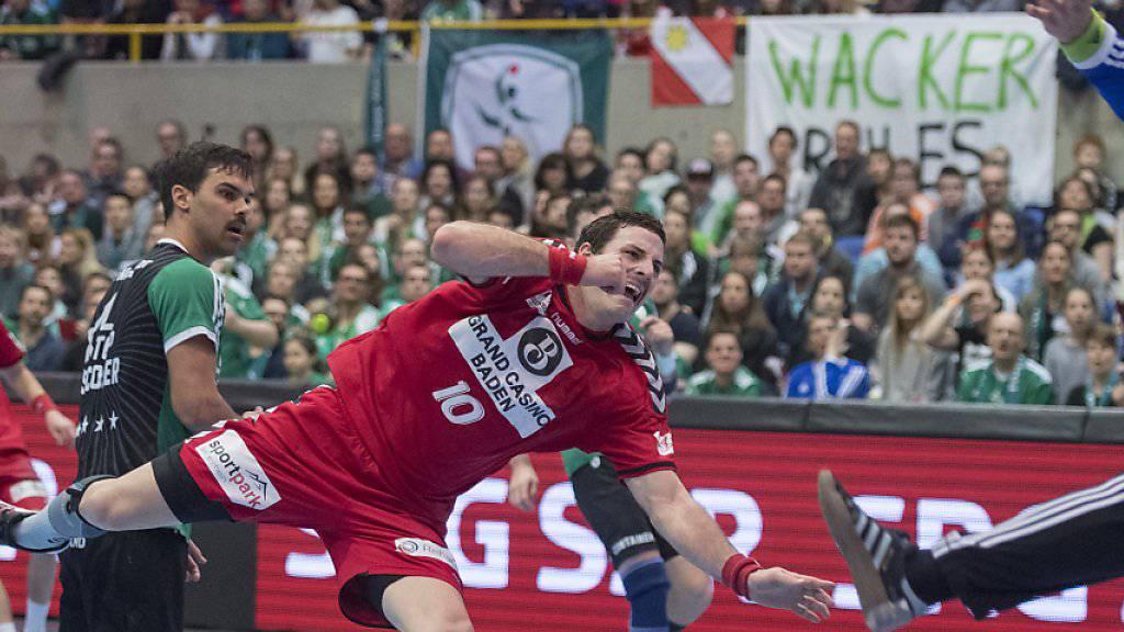 Endngens Simon Huwyler bezwingt im Cupfinal 2017 Marc Winkler von Wacker Thun, seinem zukünftigen Verein