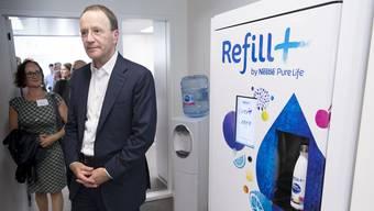 Nestlé-Chef Mark Schneider will mit Wasser-Automaten expandieren.