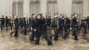 Musiker des total 138-köpfigen Sinfonieorchesters Basel Sinfonietta.