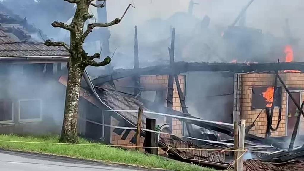 Ursache des Scheunenbrandes in Ruswil geklärt