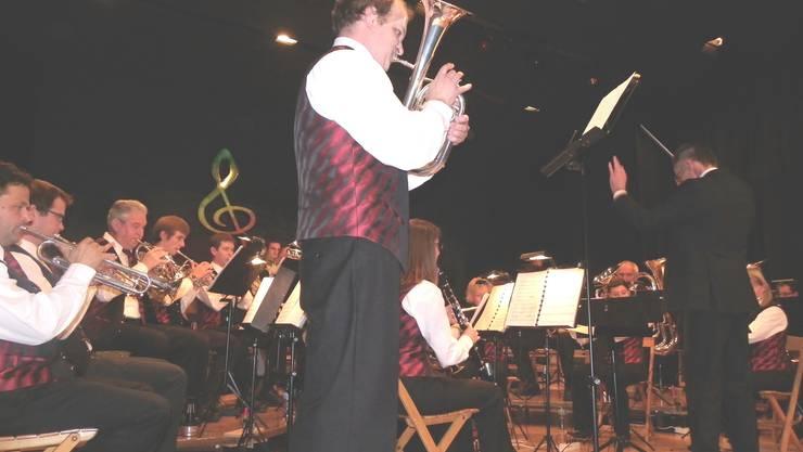 Martin Zumsteg glänzte als Solist mit seinem Es-Horn