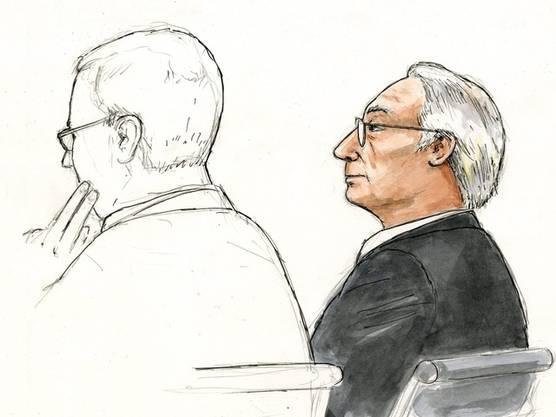 Rolf Erb (rechts) vor Gericht (Archiv)