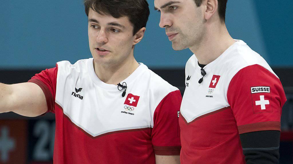 Benoît Schwarz (links) und Skip Peter De Cruz wollen es an der WM wissen