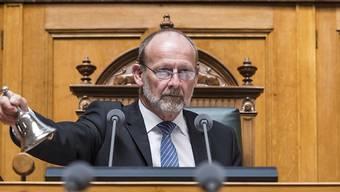 Der amtierende Nationalratspräsident Dominique de Buman (CVP/FR) wird im Herbst des kommenden Jahres nicht mehr zu den Nationalratswahlen antreten. (Archivbild)