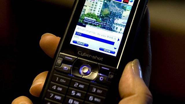 Ein Mobiltelefon von Sony Ericsson