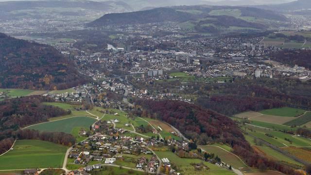 Siedlungsbrei bei Brugg im Kanton Aargau (Symbolbild)