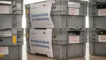 Der Thurgauer Generalstaatsanwalt Stefan Haffter musste bezüglich der Klage wegen Wahlfälschung bei den Grossratswahlen 2020 sieben Kisten voller Wahlzettel auszählen.