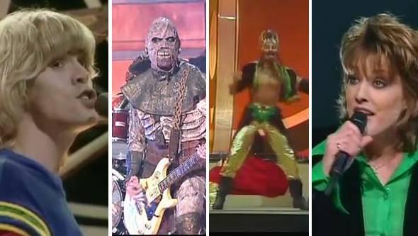Bucks Fizz, Lordi, Dschingis Khan oder Katrina & The Waves – Teilnehmer aus Zeiten, in denen noch nicht alles so Eurovision-einheitlich war am Contest.