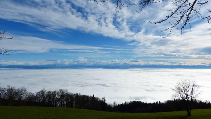 Das Solothurner Meer vom Weissenstein. (Archivbild)