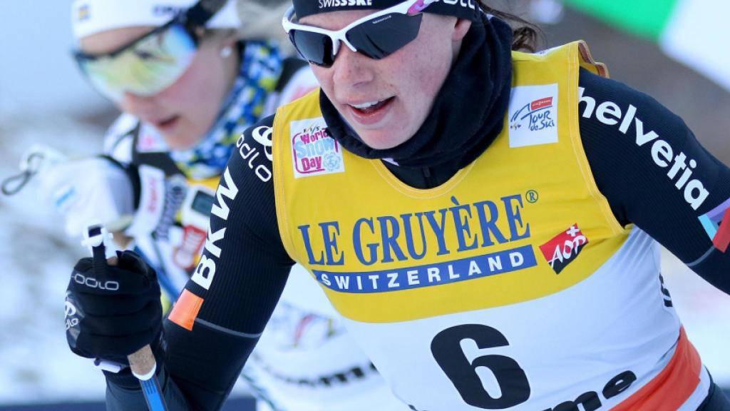 Nathalie von Siebenthal realisierte das beste Tour-de-Ski-Ergebnis einer Schweizer Langläuferin